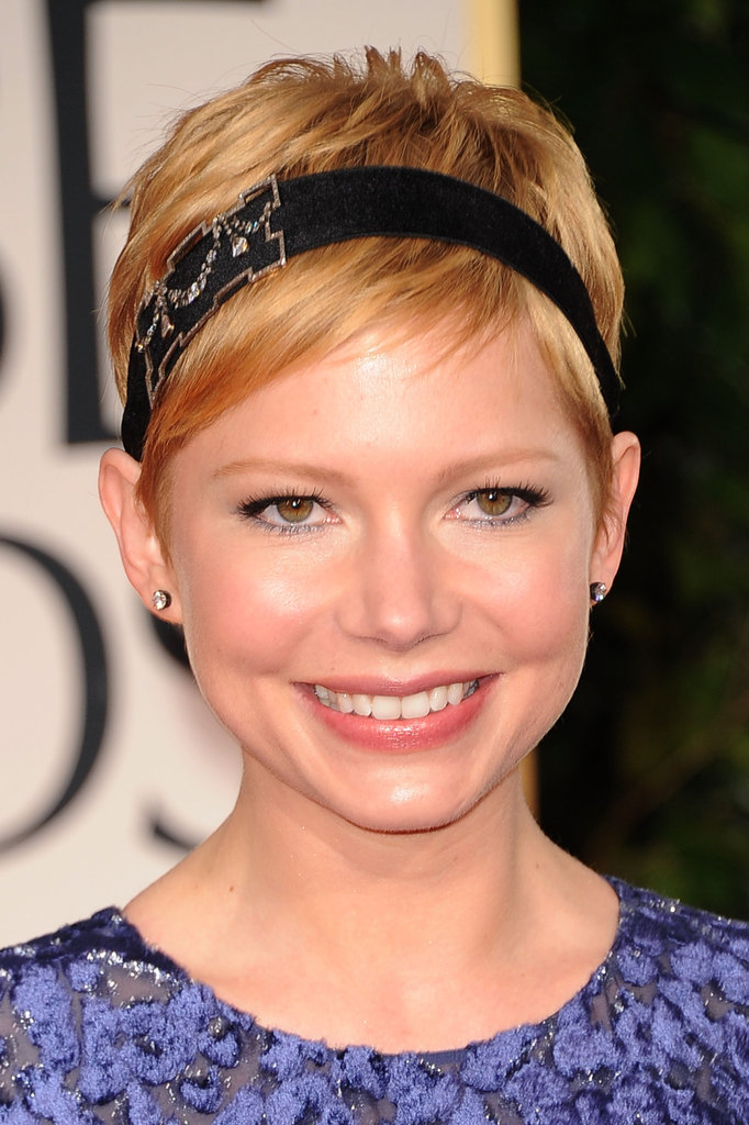 Michelle Williams wore a black headband.