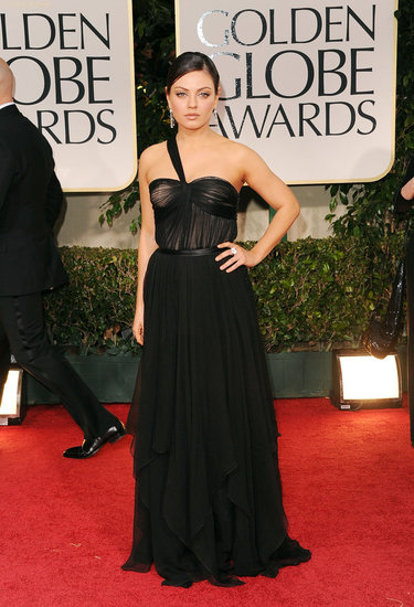 Mila Kunis in Dior at the Golden Globes.