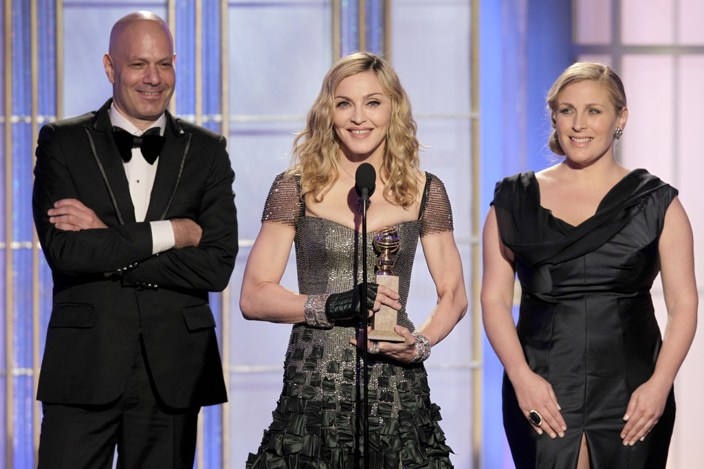 Madonna accepted a Golden Globe in Reem Acra.