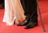 Angelina Jolie and Brad Pitt's shoes at the 2012 Golden Globe Awards.