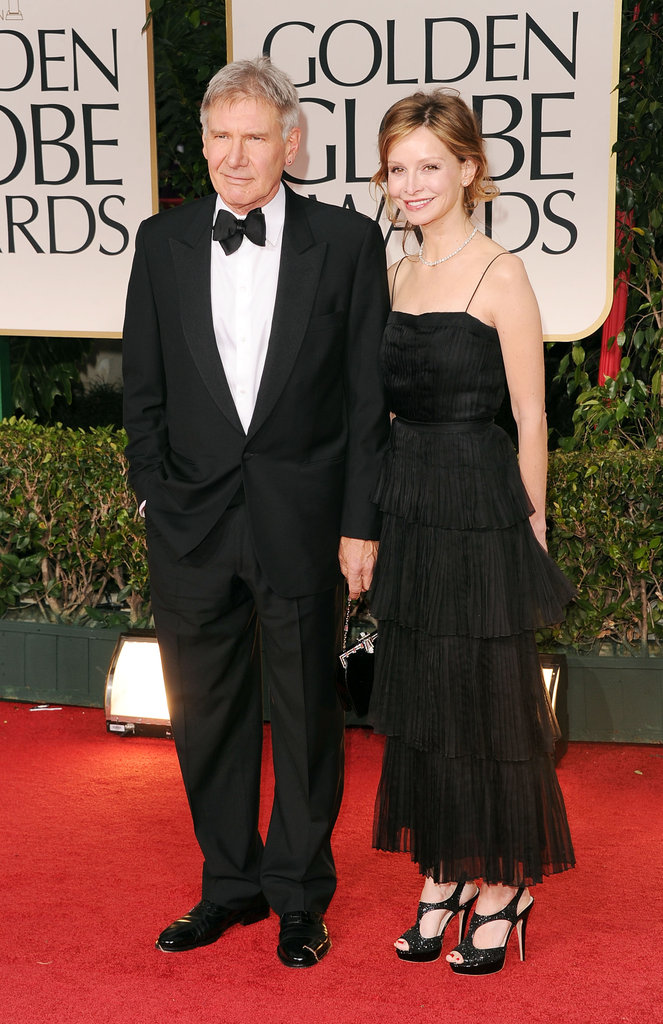 Harrison Ford and Calista Flockhart at the Golden Globes.