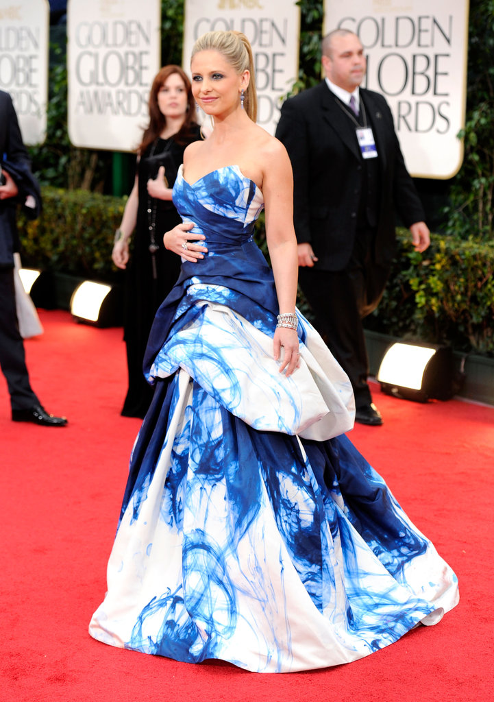 Sarah Michelle Gellar at the Golden Globes.