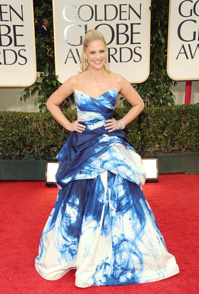 Sarah Michelle Gellar at the Golden Globes.