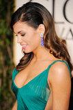 Jenna Dewan in a green dress at the Golden Globes.