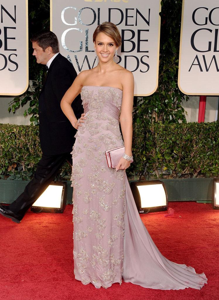 Jessica Alba at the Golden Globes.