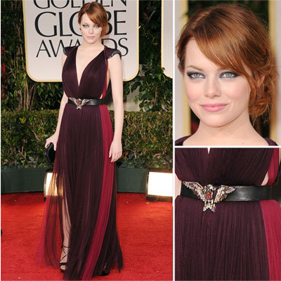Emma Stone in Lanvin at Golden Globes 2012