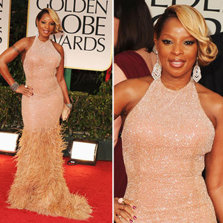 Mary J. Blige at Golden Globes 2012