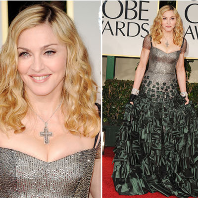 Madonna in Reem Acra at Golden Globes 2012