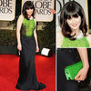 Zooey Deschanel at Golden Globes 2012