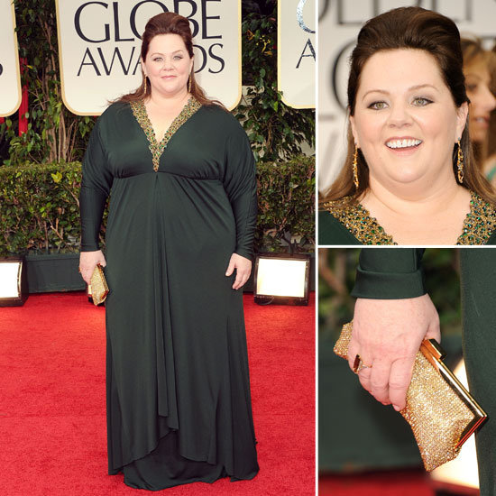 Bridesmaids funny lady Melissa McCarthy glammed it up in Badgley Mischka for tonight's awards.
