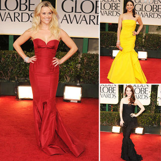 Fishtail Dresses at the Golden Globes 2012