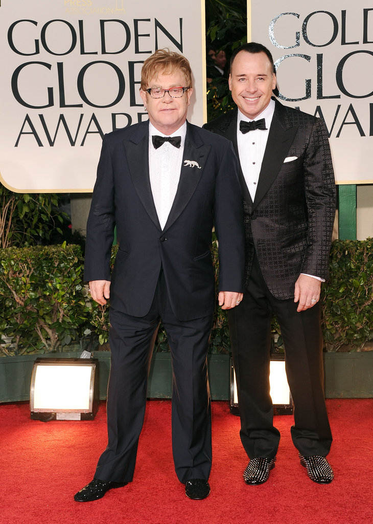 Elton John and David Furnish look so cute.