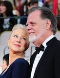 Helen Mirren poses on the red carpet with her husband Taylor Hackford.