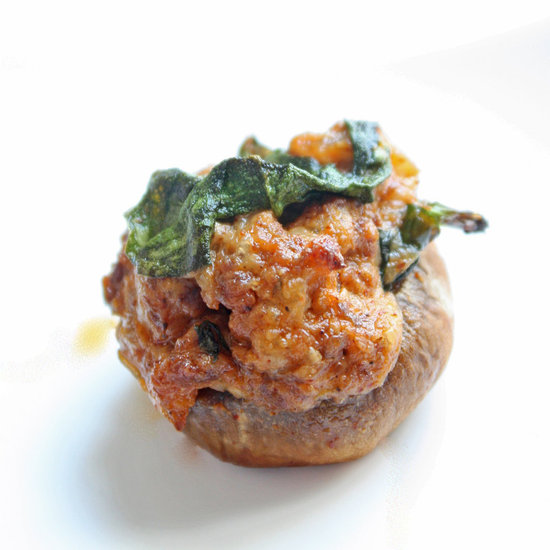 Chorizo stuffed mushrooms
