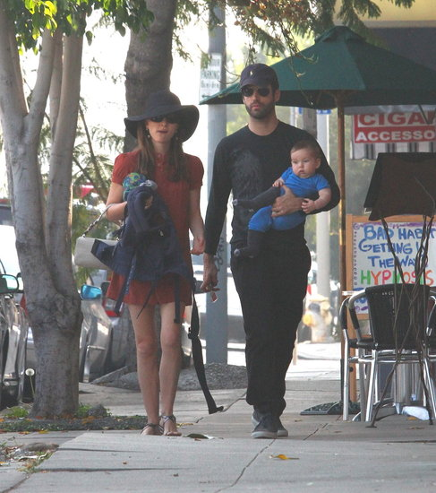Natalie Portman shopped in LA with Benjamin Millepied and Aleph Millepied.