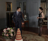 Ed Westwick as Chuck Bass and Michelle Trachtenberg as Georgina Sparks on Gossip Girl.  Photo courtesy of The CW