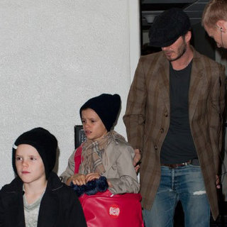 David Beckham With His Sons at LAX Pictures