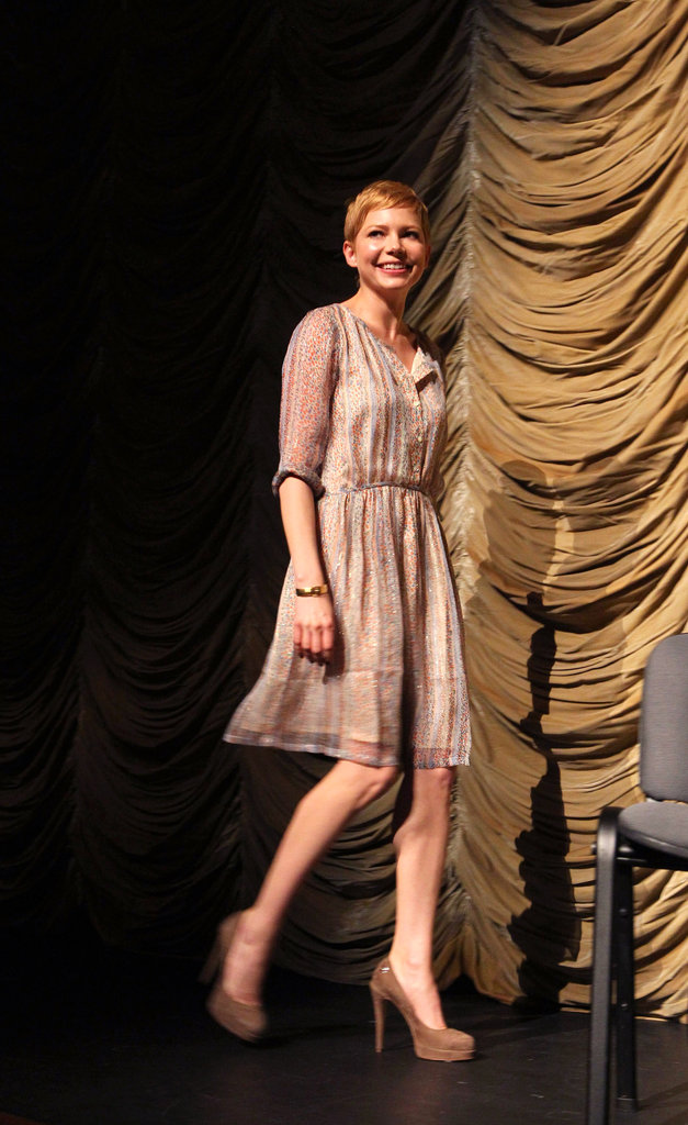 Michelle Williams walked onto LACMA's stage.