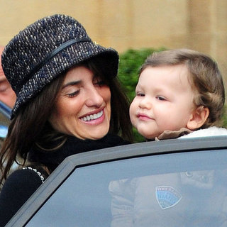 Penelope Cruz With Big Leo in London Pictures