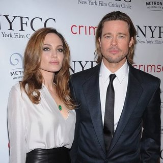 Angelina Jolie in Ferragamo at NY Film Critics Circle Awards