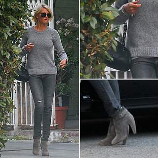 Cameron Diaz Gray Jeans January 2012
