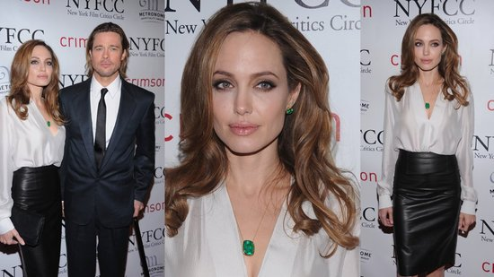 See How to Get Angelina Jolie's Sleek Black and White Outfit!