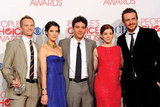Neil Patrick Harris, Cobie Smulders, Josh Radnor, Alyson Hannigan, and Jason Segel