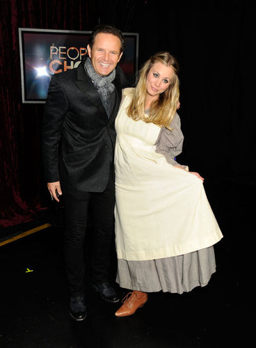 Mark Burnett and Kaley Cuoco