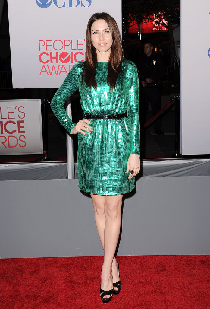Whitney Cummings had a sparkly green dress.