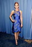 Jennifer Lawrence wearing a blue Viktor & Rolf dress at the People's Choice Awards.