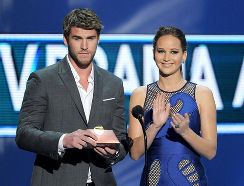 Liam Hemsworth and Jennifer Lawrence