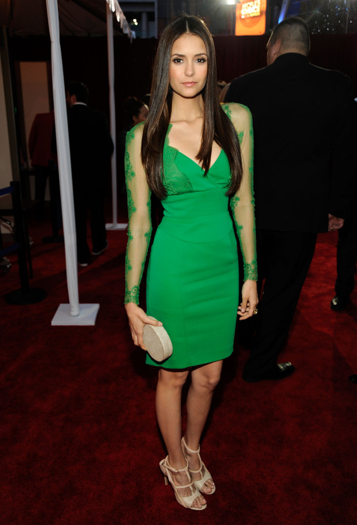 Nina Dobrev was at the People's Choice Awards.