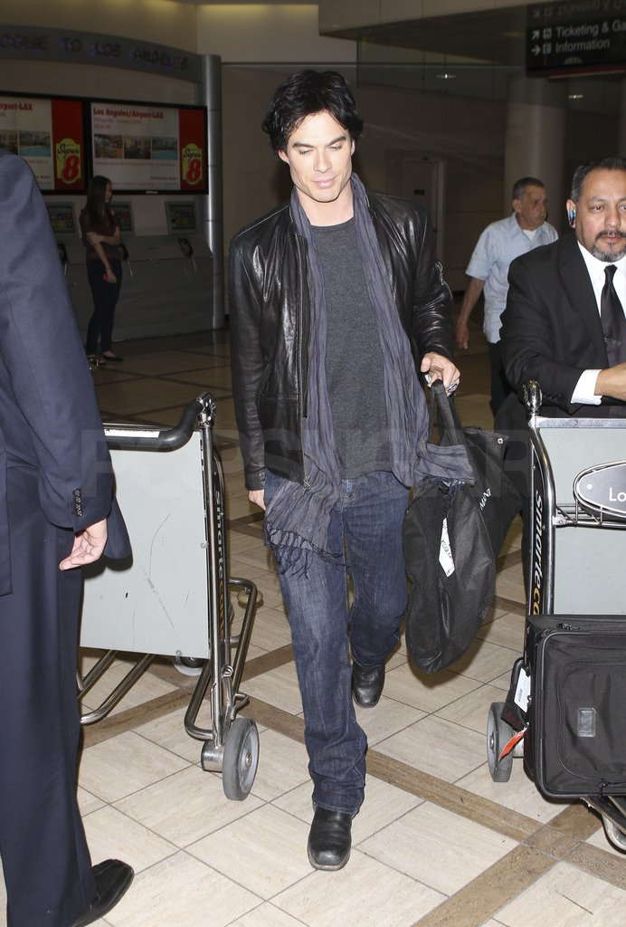Ian Somerhalder had help with his bags.