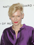 Tilda Swinton shimmered at an awards gala in NYC.