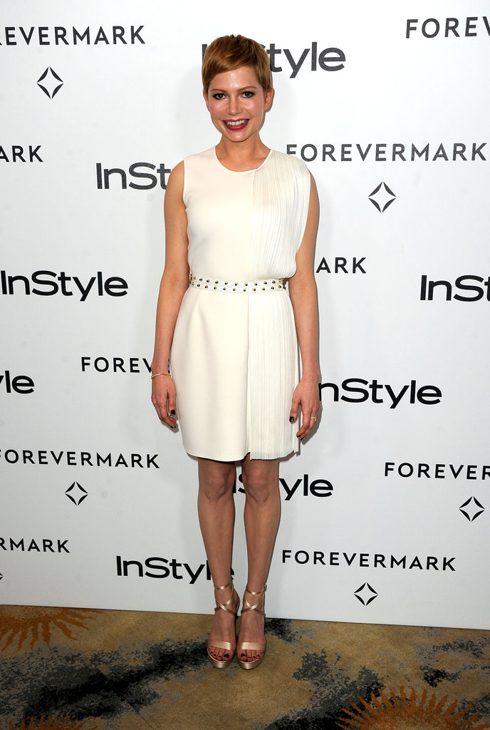 Michelle Williams kept her dress sweet and simple.