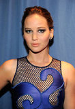 Jennifer Lawrence showed off her sexy cutout dress.