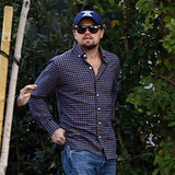 Leonardo wore a gingham shirt in Beverly Hills.