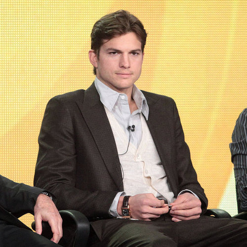Ashton Kutcher Shaves Beard & Talks Two and a Half Men TCA