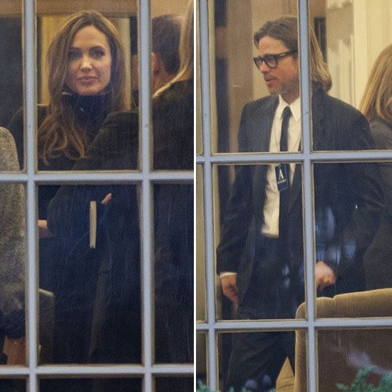 Angelina Jolie and Brad Pitt Have a Meeting With the President