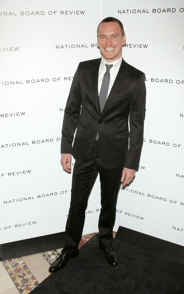 Michael Fassbender was happy to attend the 2011 National Board of Review gala.