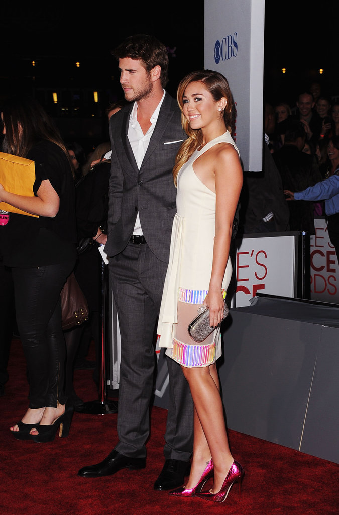 Miley Cyrus and Liam Hemsworth were together at the 2012 People's Choice Awards.