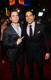 White Collar's Matthew Bomer pals around with CSI: Miami's Adam Rodriguez.