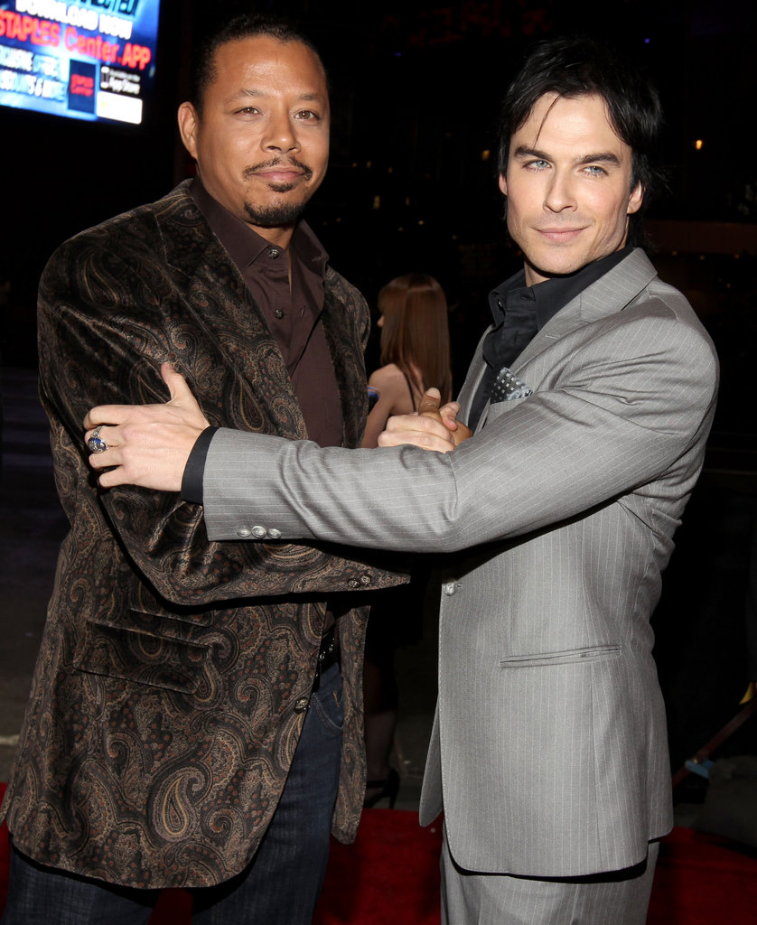 Terrence Howard from Law & Order: LA has a moment with sexy Ian Somerhalder from Vampire Diaries.