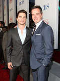 Stars of White Collar Matt Bomer and Tim DeKay pose on the red carpet.