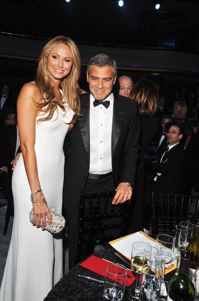 George Clooney and Stacy Keibler found their table at the Critics' Choice Movie Awards.