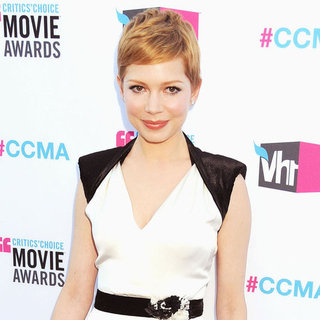 Michelle Williams Wearing Black and White Chanel