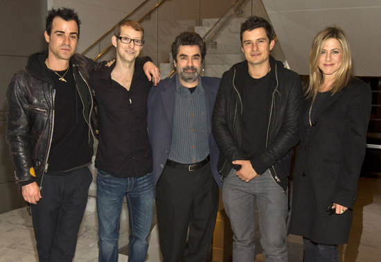 Jennifer Aniston and Justin Theroux attended an HBO screening of Paradise Lost 3: Purgatory with Jason Baldwin, Orlando Bloom, and director Joe Berlinger.