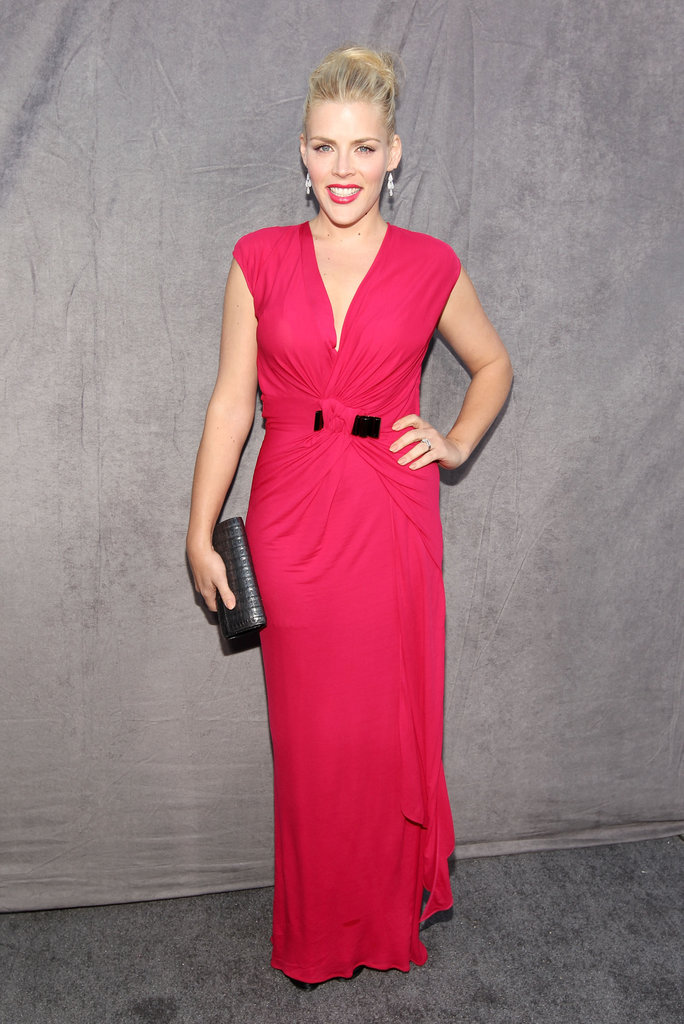 Busy Philipps wore red to the Critics' Choice Movie Awards.