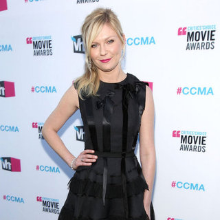 Kirsten Dunst Black Dior Dress at Critics' Choice Pictures