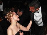 Evan Rachel Wood and George Clooney